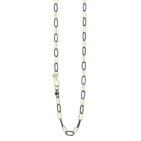 two tone bowline necklace
