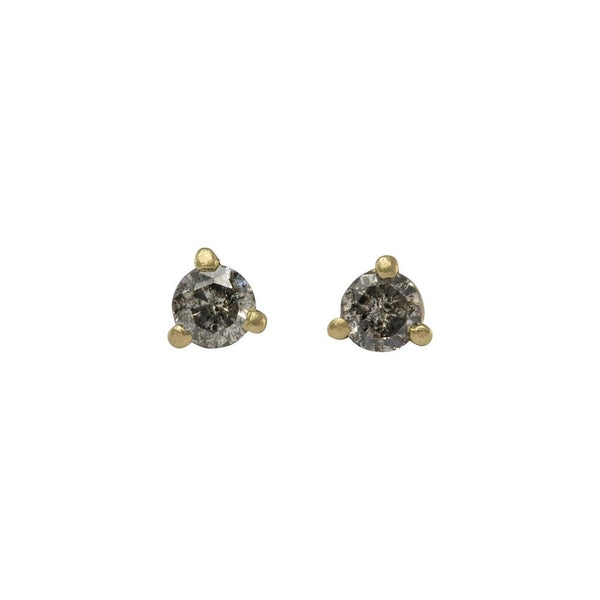 mini salt + pepper diamond studs