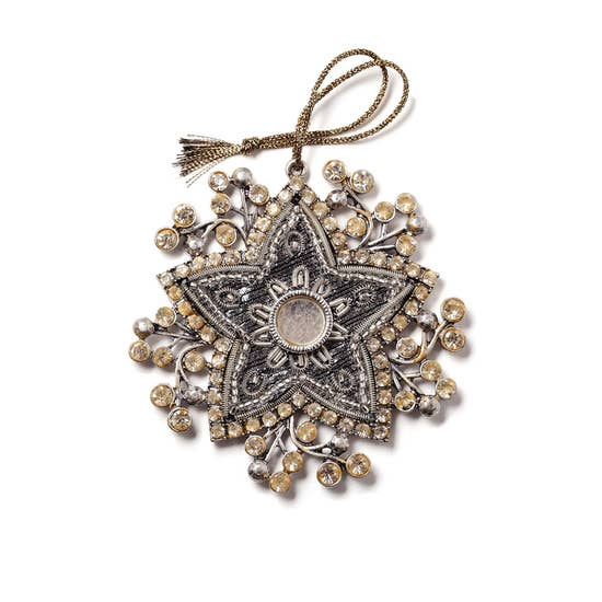 bejeweled star ornament