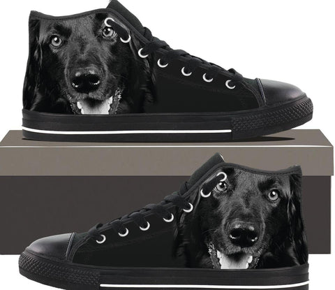 Dog Black And White - Mens hightop