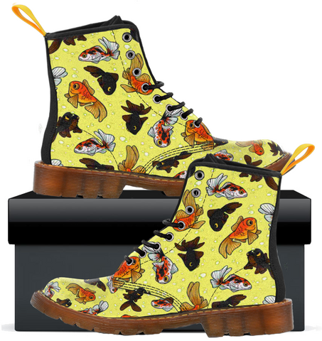 Gold Fish - Womens Canvas Boots