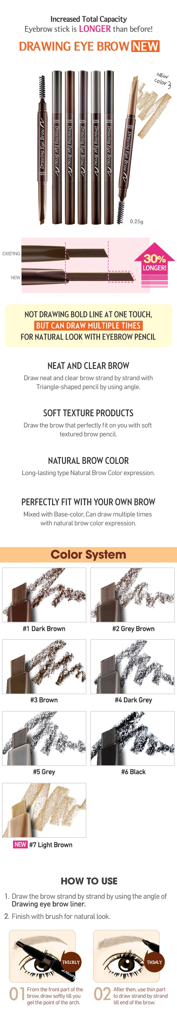 Etude House Drawing Eye Brow Makeup World Pakistan Eyebrow New Buy 1 Get Triangle Shaped Pencil Enables A Delicate 2 Moisture With Vitamin E Soften The Eyebrows 3 Great Temperature Resistance And Proper Hardness
