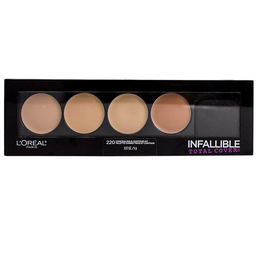 L'Oreal Cosmetics Infallible Total Cover Concealing and Contour Kit