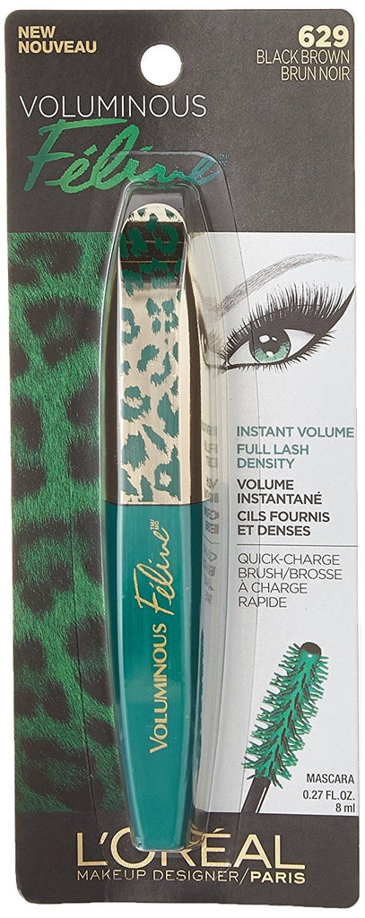 Voluminous Feline Washable Mascara, Black Brown