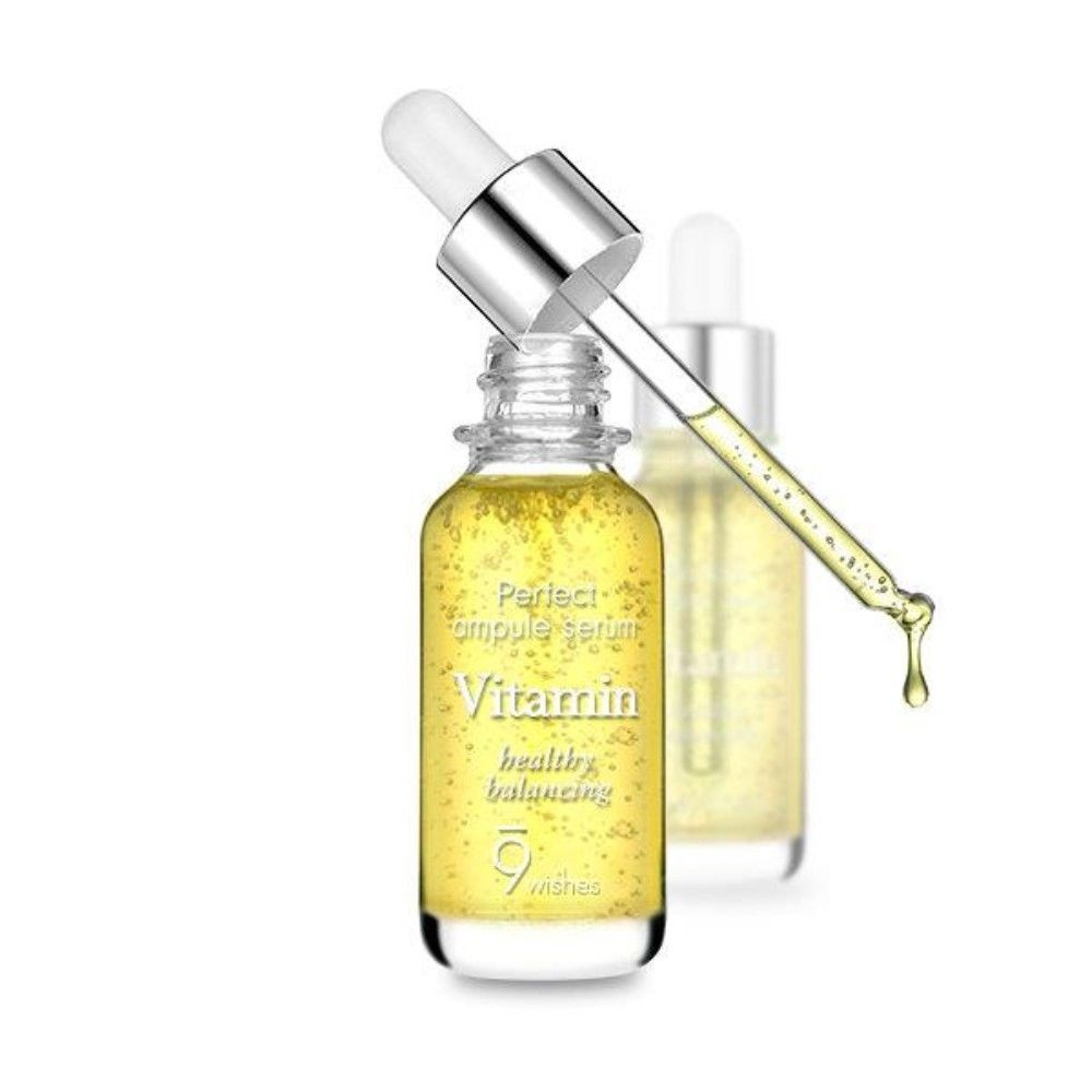 9WISHES Mega Vitamin Ampule Serum 25ml - MakeUp World Pakistan