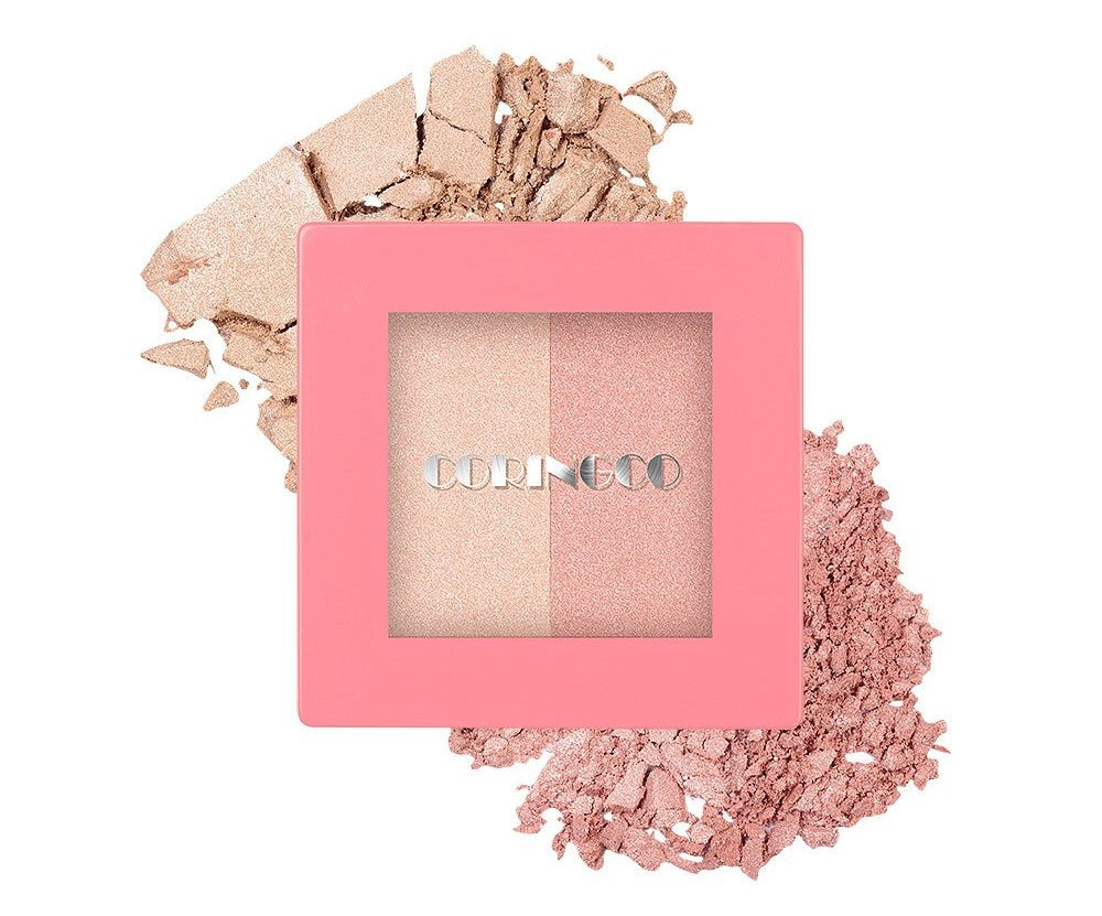 CORINGCO Pink Square Dual Highlighter - MakeUp World Pakistan