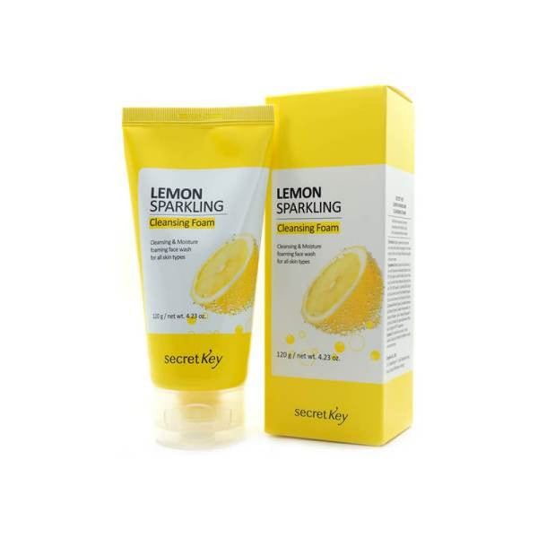 SECRET KEY  Lemon Sparkling Cleansing Foam 120g - MakeUp World Pakistan