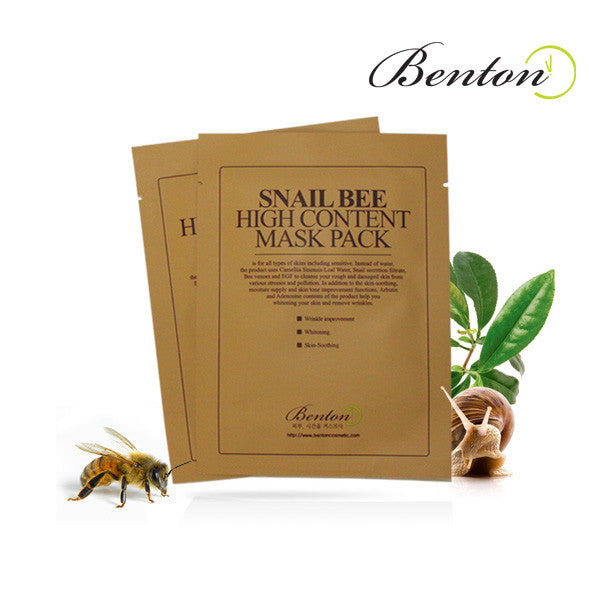 BENTON Snail Bee High Content Mask - MakeUp World Pakistan