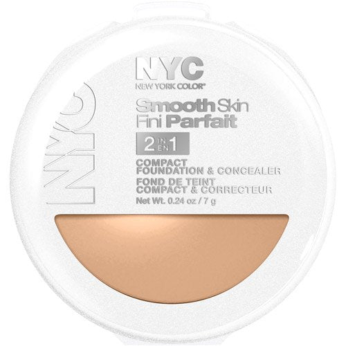 NYC Smooth Skin 2-in-1 Compact Foundation and Concealer, Medium
