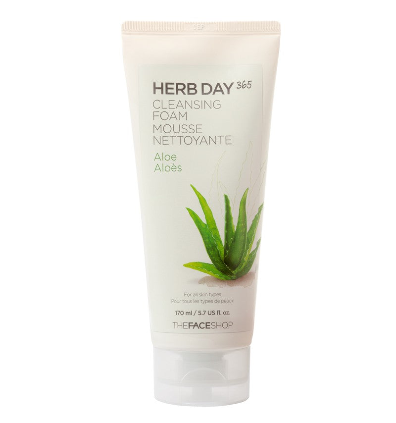 THE FACE SHOP Herb Day 365 Cleansing Foam (Aloe) - MakeUp World Pakistan