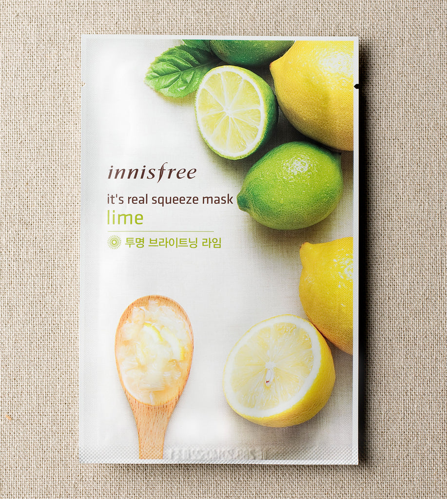 INNISFREE It's real squeeze mask - Lime - MakeUp World Pakistan