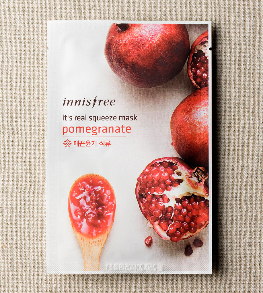 INNISFREE It's real squeeze mask - Pomegranate - MakeUp World Pakistan