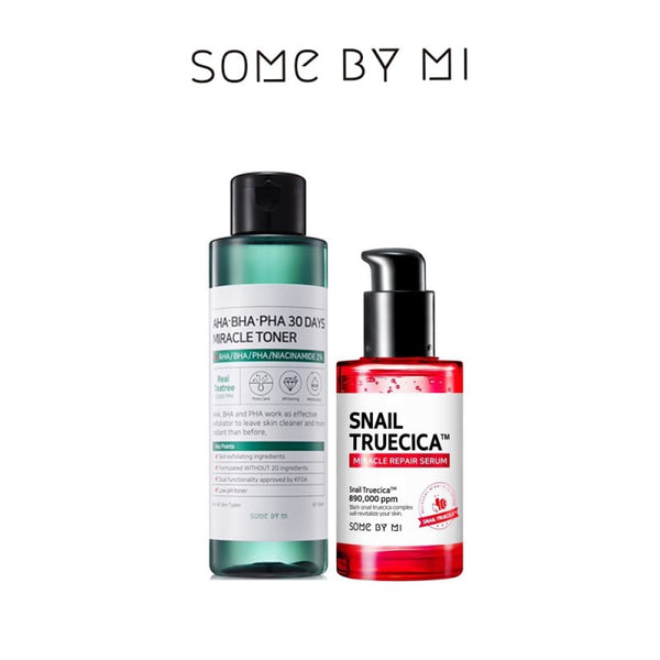 SOMEBYMI AHA BHA PHA 30 Days Miracle Toner + Snail Truecica Miracle Repair Serum Set - MakeUp World Pakistan