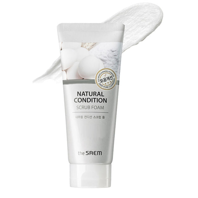 the SAEM Natural Condition Scrub Foam (Deep Pore Cleansing) 150ml - MakeUp World Pakistan