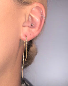 """THREADED 2.0"" earring"