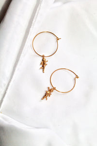 """FLOATING CHERUB"" hoop earring"