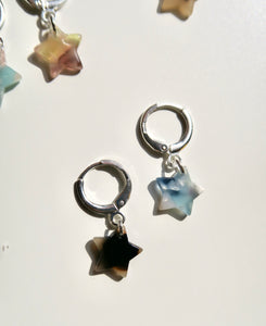 """CLÉ"" star resin earring"