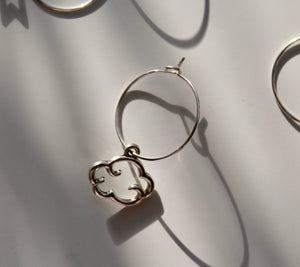 """ETHEREAL"" mix + match hoop earring"