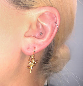 """FLOATING CHERUB"" earring"