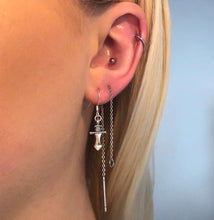 """THREADED"" earring"