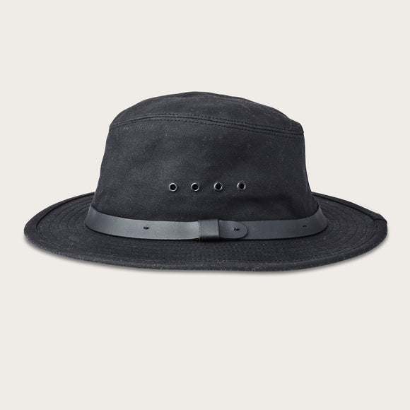 FILSON - TIN CLOTH PACKER HAT BLACK - OIL FINISH