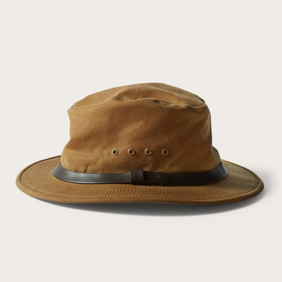 FILSON - TIN CLOTH PACKER HAT DARK TAN - OIL FINISH