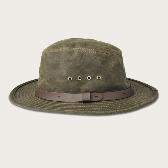 FILSON - TIN CLOTH PACKER HAT OTTER GREEN - OIL FINISH