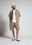 Nigel Cabourn - 70s NATIVE HALF SLEEVE SHIRT - PANAMA CLOTH