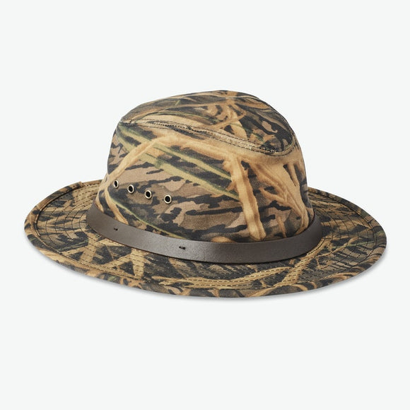 FILSON×MOSSY OAK® - CAMO TIN PACKER HAT - OIL FINISH TIN CLOTH