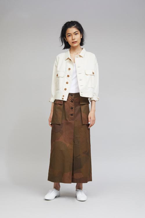 Nigel Cabourn WOMAN - NZ SKIRT - S.A.S. CAMOFLAGE