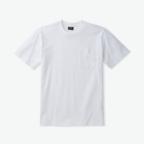 FILSON - OUTFITTER SOLID POCKET TEE - BRIGHT WHITE