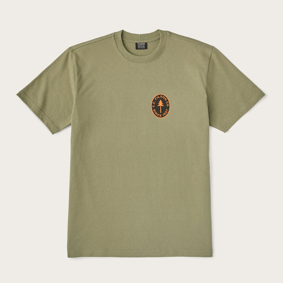 FILSON - S/S OUTFITTER GRAPHIC TEE - BURNT OLIVE