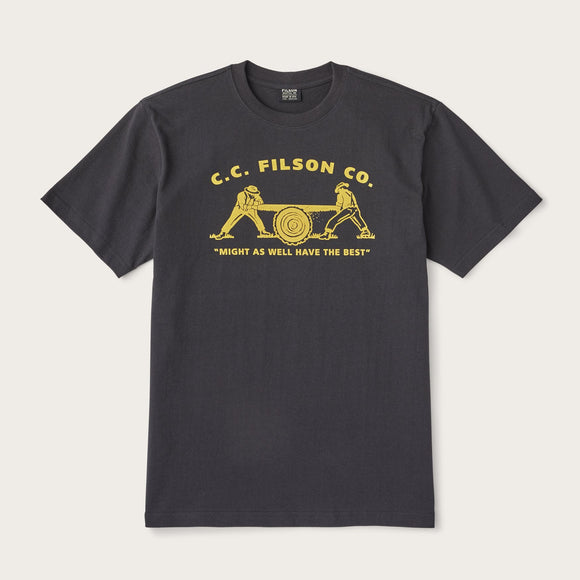 FILSON - S/S OUTFITTER GRAPHIC TEE - FADED BLACK