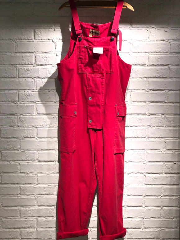 Nigel Cabourn - LYBRO NAVAL DUNGAREE - HERRINGBONE RED