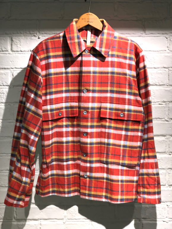 Nigel Cabourn - LYBRO USMC SHIRT - ORANGE CHECK