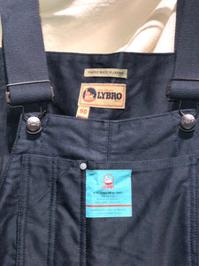 Nigel Cabourn - LYBRO NAVAL DUNGAREE SPLIT - BLACK NAVY