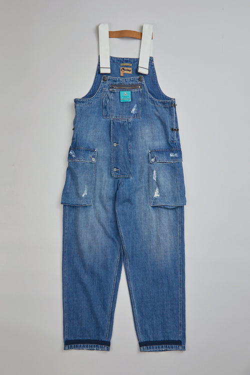 Nigel Cabourn - LYBRO NAVAL DUNGAREE DENIM - WITH HOLES