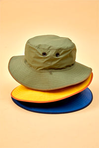 Nigel Cabourn - REVERSIBLE BUSH HAT - WEATHER CLOTH
