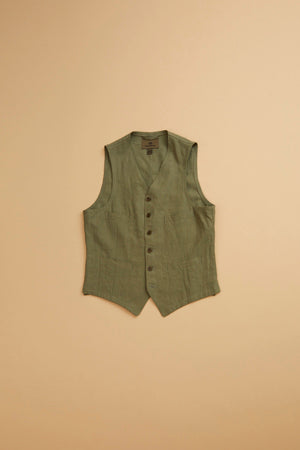 Nigel Cabourn - GENTLEMAN VEST - HIGH DENSITY LINEN