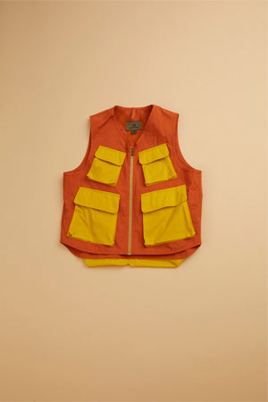 Nigel Cabourn - ARMY MULTI POCKET VEST - WEATHER CLOTH