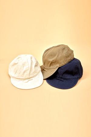 Nigel Cabourn - LYBRO MECHANICS CAP - GARMENT DYE COTTON HERINGBONE