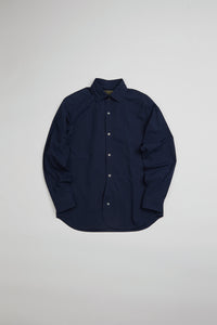 Nigel Cabourn - BRITISH OFFICERS SHIRT NAVY - HIGH DENSITY TWILL