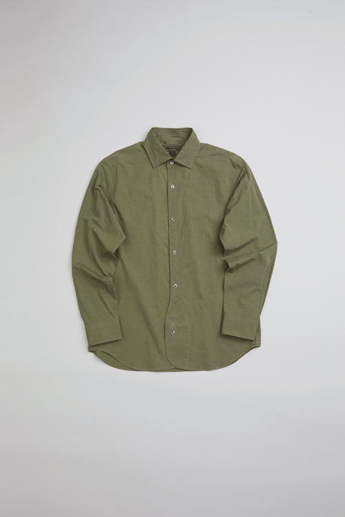 Nigel Cabourn - BRITISH OFFICERS SHIRT GREEN - HIGH DENSITY TWILL