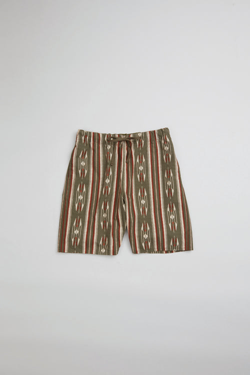Nigel Cabourn - 70s NATIVE GYM SHORTS - PANAMA CLOTH
