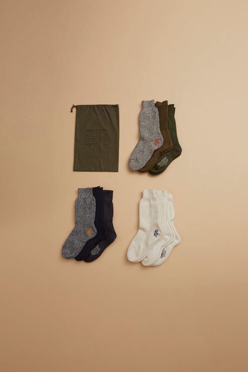Nigel Cabourn - MAIN LINE 3PACK ARMY SOCKS - MAN