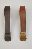 Nigel Cabourn - OFFICERS LEATHER BELT - PEAT LABEL