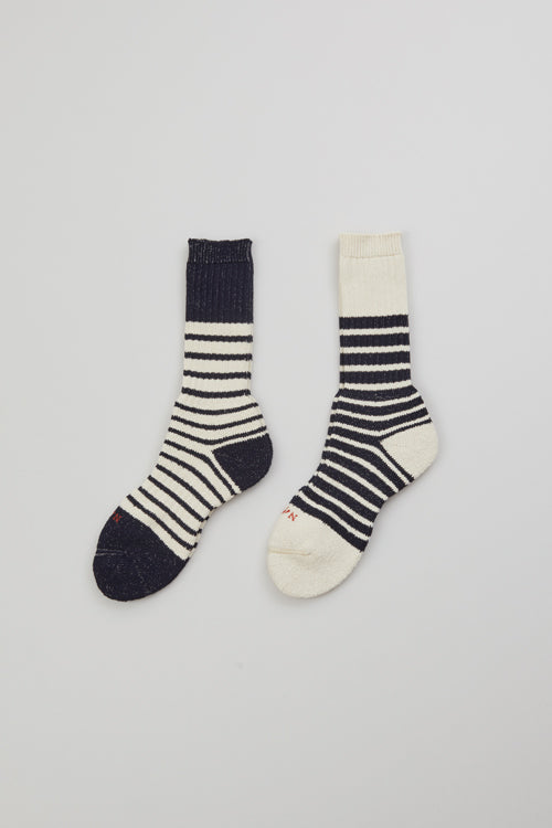 Nigel Cabourn - MULTI BORDER SOCKS - COTTON