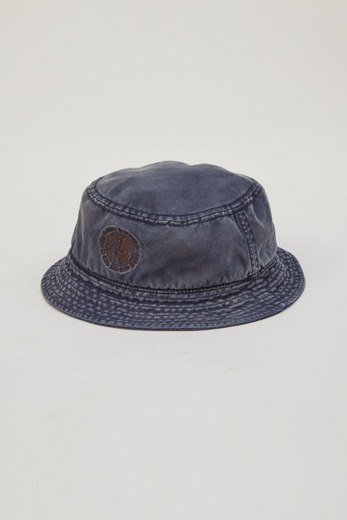 Nigel Cabourn - LYBRO GLOBE LOGO BUCKET HAT - CANVAS
