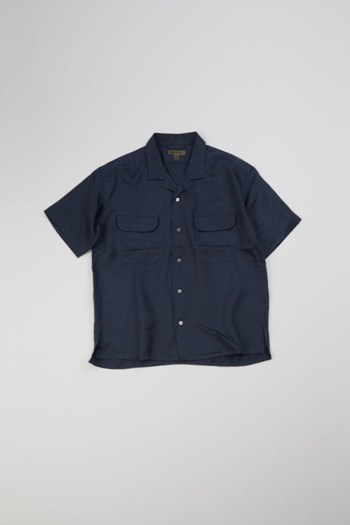 Nigel Cabourn - OPEN COLLAR SHIRT - LINEN TWILL