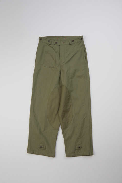 Nigel Cabourn - MOTORCYCLE PANT CANVAS - GREEN